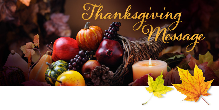 thanksgiving message from bishop deeley diocese of portland