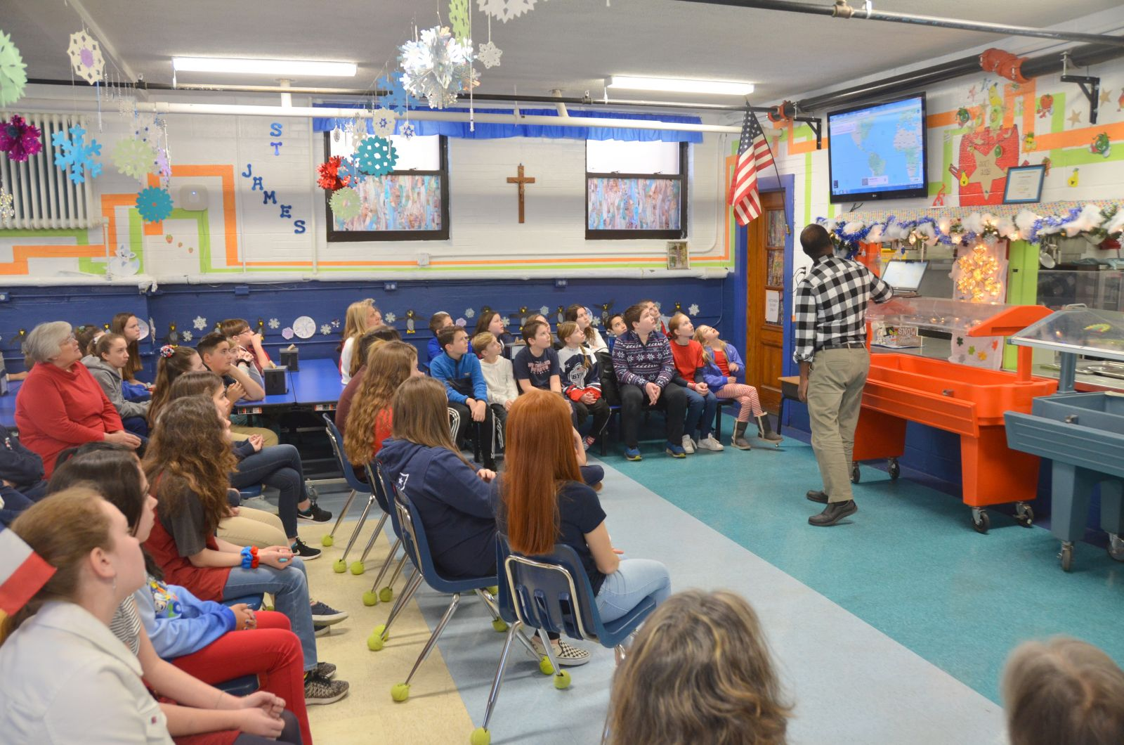 St James Students In Biddeford Learn Of Plight Of Refugees And Immigrants During Maine Catholic Schools Week Diocese Of Portland